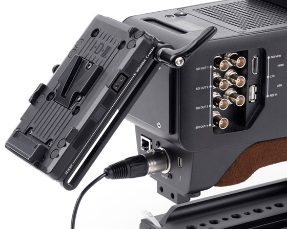 aja cion battery slide v-mount