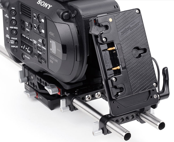 sony fs7 gold-mount battery plate